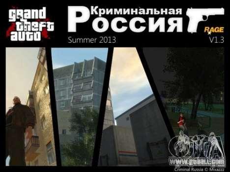 Criminal Russia RAGE v 1.3.1 for GTA 4