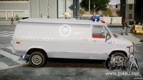 Chevrolet G20 Police Van [ELS] for GTA 4 back view