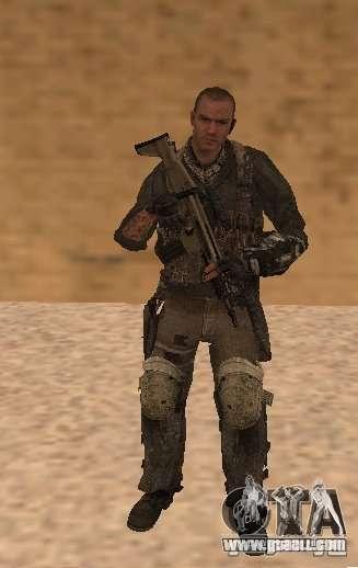 Yuri from Call of Duty Modern Warfare 3 for GTA San Andreas second screenshot