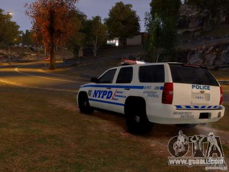 Chevrolet Tahoe New York Police for GTA 4 right view