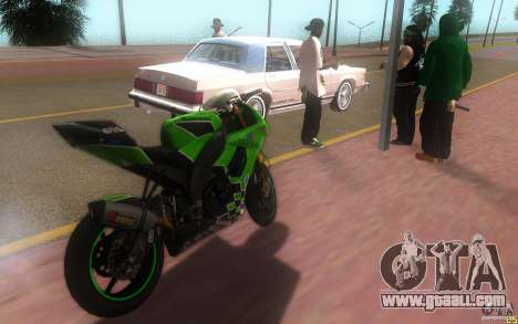 Kawasaki Zx 10-R II for GTA San Andreas left view