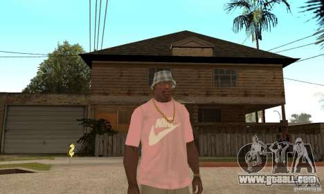 Pink Nike T-Shirt for GTA San Andreas