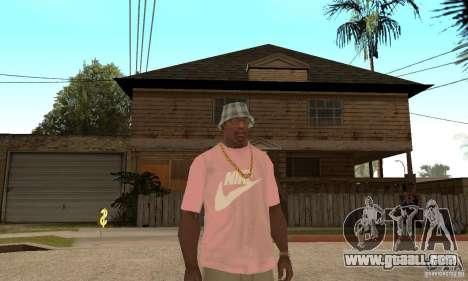Pink Nike T-Shirt for GTA San Andreas