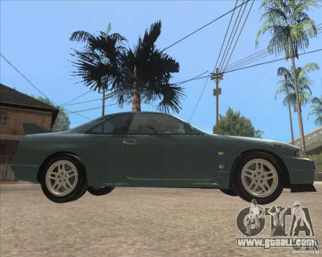 Nissan Skyline GT-R BNR33 for GTA San Andreas back left view