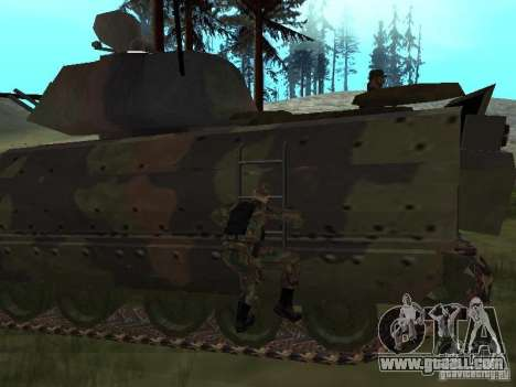 M2A3 Bradley for GTA San Andreas back view