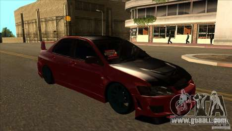 Mitsubishi Lancer Evo 8 Street Drift for GTA San Andreas back view