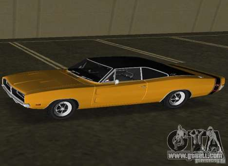 Dodge Charger RT 1969 for GTA Vice City left view