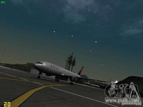 Boeing 767-400ER Delta Airlines for GTA San Andreas left view