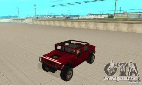 Hummer Civilian Vehicle 1986 for GTA San Andreas