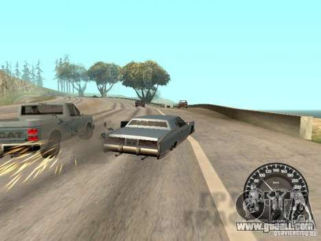 Speedometer Audi for GTA San Andreas forth screenshot