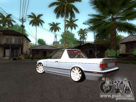BMW E34 Pickup for GTA San Andreas back left view