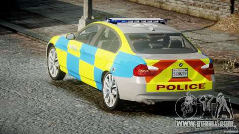 BMW 350i Indonesian Police Car [ELS] for GTA 4 side view