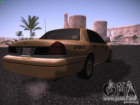 Ford Crown Victoria Taxi 2003 for GTA San Andreas back left view