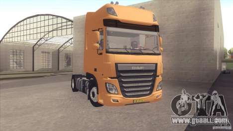 DAF XF Euro 6 for GTA San Andreas back left view
