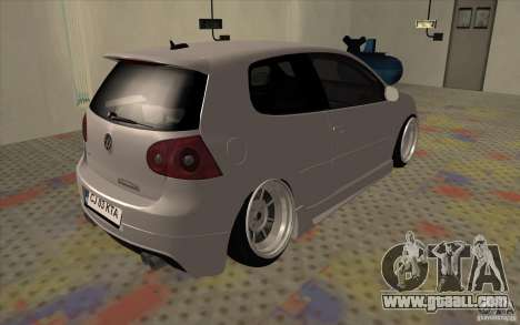 Volkswagen Golf Mk5 for GTA San Andreas back left view