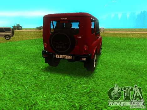 UAZ 315148 for GTA San Andreas back left view