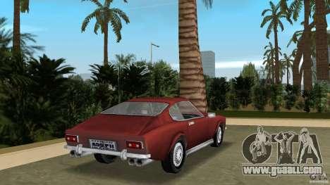 Aston Martin V8 Vantage 5.3 1969-1989 for GTA Vice City back left view