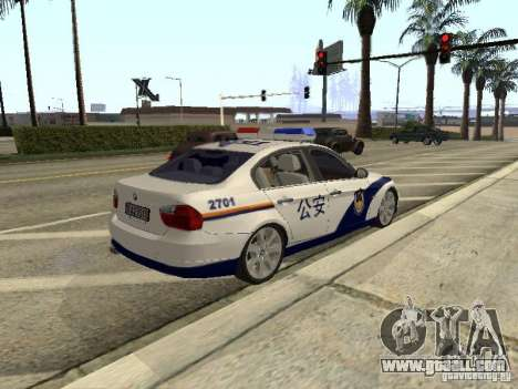 BMW 3 Series China Police for GTA San Andreas back view