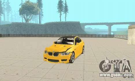 BMW M3 2008 for GTA San Andreas upper view