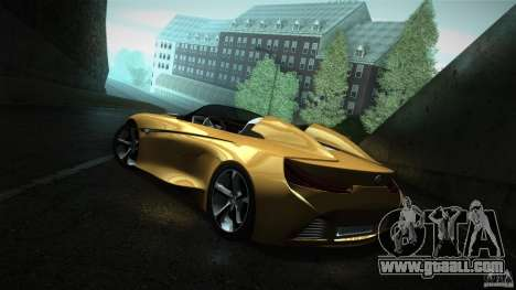 BMW Vision Connected Drive Concept for GTA San Andreas back left view