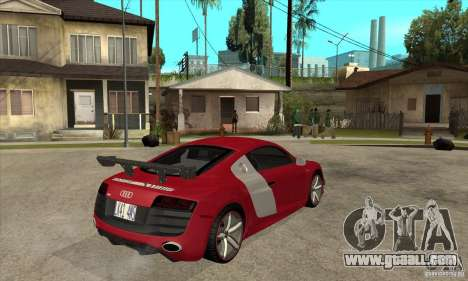 Audi R8 V10 v2 for GTA San Andreas right view