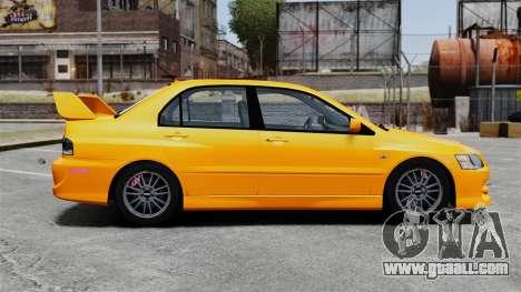 Mitsubishi Lancer Evolution IX MR for GTA 4 left view