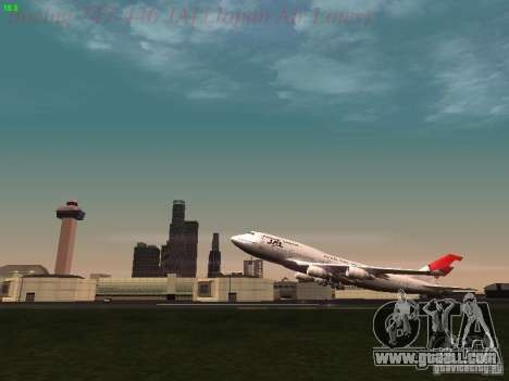 Boeing 747-446 Japan-Airlines for GTA San Andreas side view