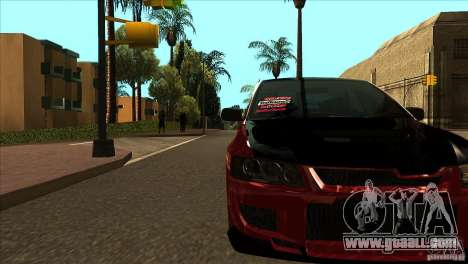 Mitsubishi Lancer Evo 8 Street Drift for GTA San Andreas inner view