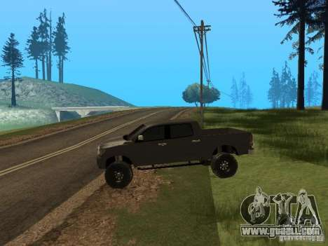 Toyota Tacoma 2011 for GTA San Andreas back left view
