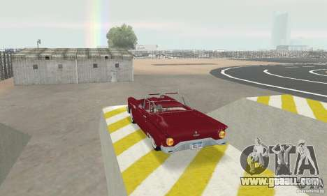 Ford Thunderbird 1957 for GTA San Andreas back left view