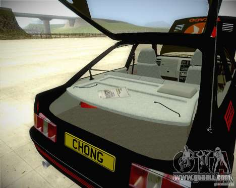 Ford Sierra RS500 Race Edition for GTA San Andreas inner view