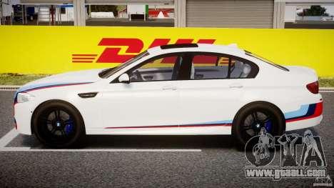 BMW M5 F10 2012 M Stripes for GTA 4 side view