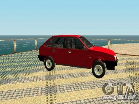VAZ 2109 v2 for GTA San Andreas back left view