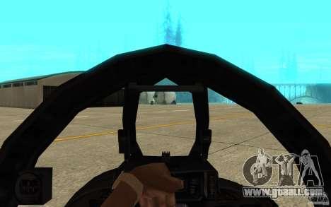 F-14 Tomcat Blue Camo Skin for GTA San Andreas inner view