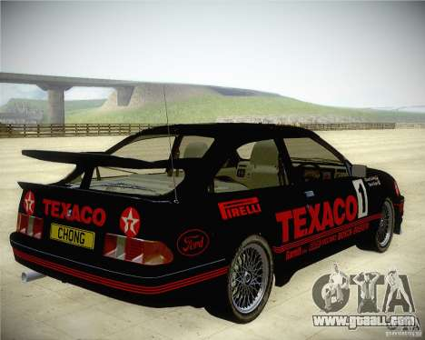 Ford Sierra RS500 Race Edition for GTA San Andreas back left view