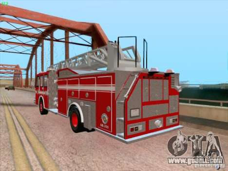 Camiao Dos Bombeiros ABE CBMESP for GTA San Andreas side view