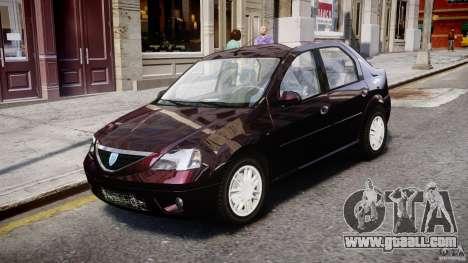 Dacia Logan 2007 Prestige 1.6 for GTA 4 left view