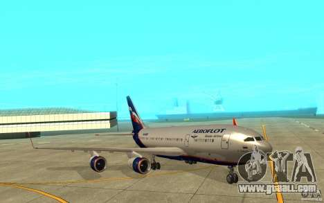 The IL-96 300 Aeroflot in new colours for GTA San Andreas left view