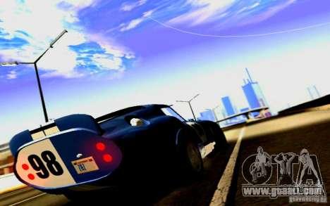 Shelby Cobra Daytona Coupe v 1.0 for GTA San Andreas back view