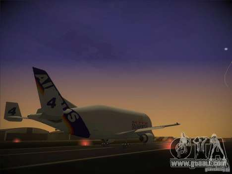 Airbus A300-600ST Beluga for GTA San Andreas back left view