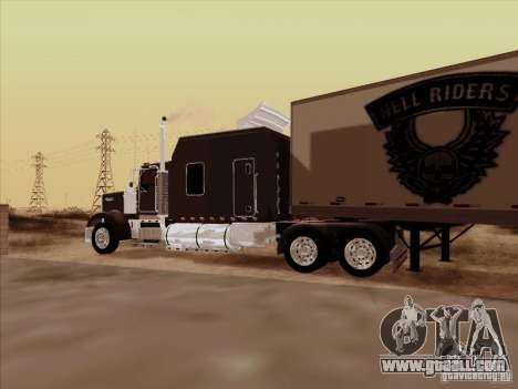 Kenworth W900 Long for GTA San Andreas inner view