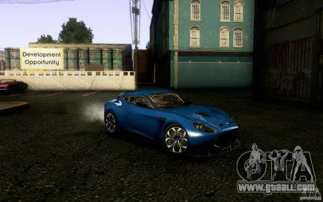 Aston Martin Zagato V12 V1.0 for GTA San Andreas back view