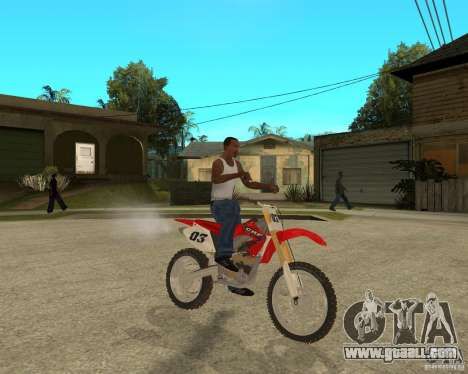 Honda CRF450R extreme Edition for GTA San Andreas right view