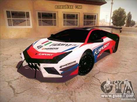 Lamborghini Reventon GT-R for GTA San Andreas back view