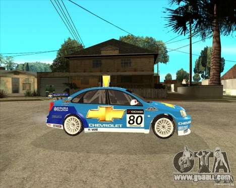 Chevrolet Lacetti WTCC for GTA San Andreas right view