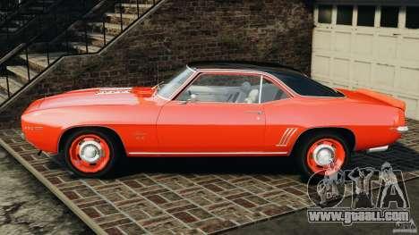 Chevrolet Camaro SS 350 1969 for GTA 4 left view