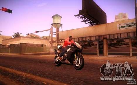 Aprilia RSV-4 Black Edition for GTA San Andreas right view