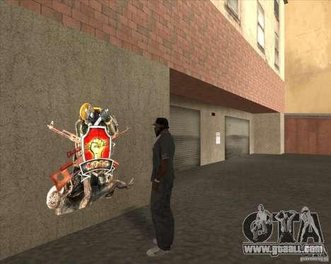 Graffiti stalkers for GTA San Andreas second screenshot