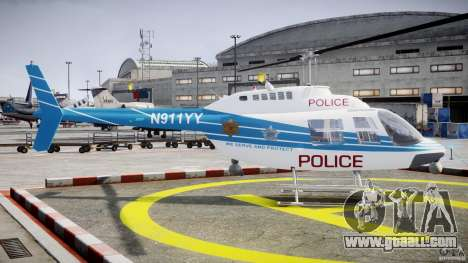 Bell 206 B - Chicago Police Helicopter for GTA 4 inner view
