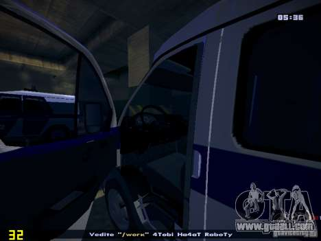 Gazelle 2705 Police for GTA San Andreas back view